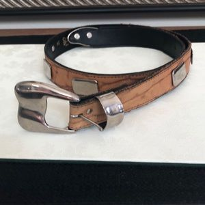 Tan and Silver Belt